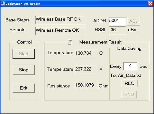 Logiciel communication sans fil CoolDragon Air Reader